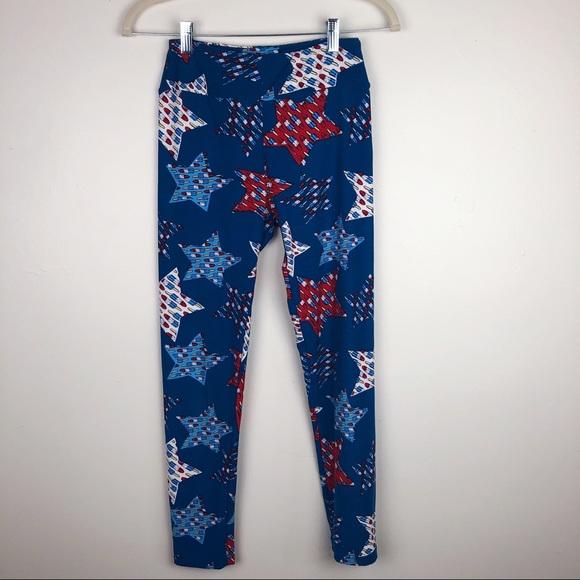 New Lularoe OS Americana Leggings Stars Red White /& Blue July 4th